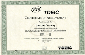 toeic certificate